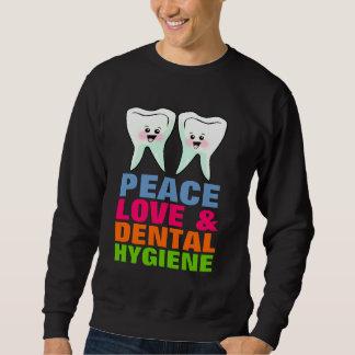 Higiene dental del amor de la paz suéter