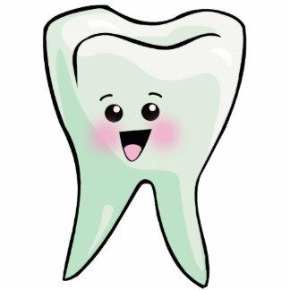Higiene dental del diente de Kawaii Fotoescultura Vertical