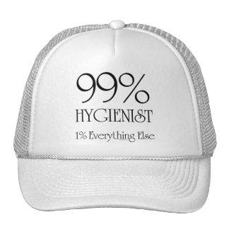 Higienista del 99% gorros bordados