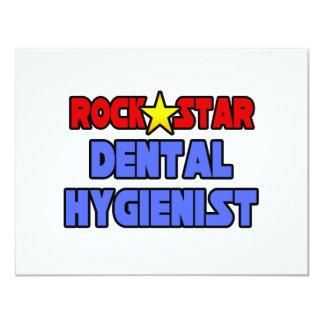 """Higienista dental de la estrella del rock invitación 4.25"""" x 5.5"""""""