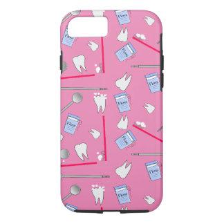 Higienista dental de las herramientas y rosa de funda iPhone 7