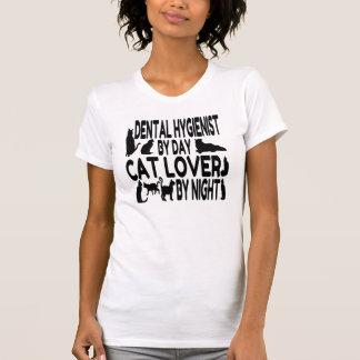 Higienista dental del amante del gato camisetas