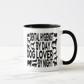 Higienista dental del amante del perro