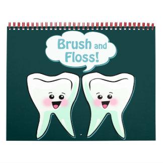Higienista dental del dentista calendario de pared
