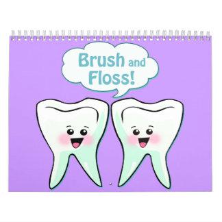 Higienista dental del dentista calendarios