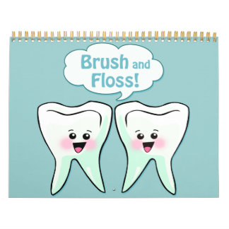 Higienista dental del dentista calendario