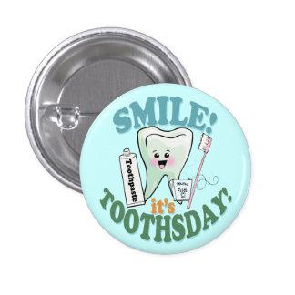 Higienista dental del dentista divertido pin