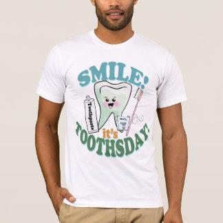 Higienista dental del dentista divertido playera