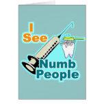 Higienista dental del dentista divertido felicitación
