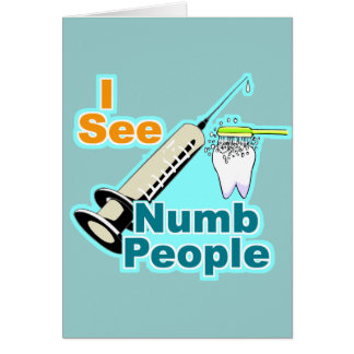 Higienista dental del dentista divertido tarjeta de felicitación
