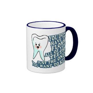 Higienista dental del dentista divertido tazas de café