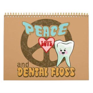 Higienista dental del dentista divertido calendarios de pared