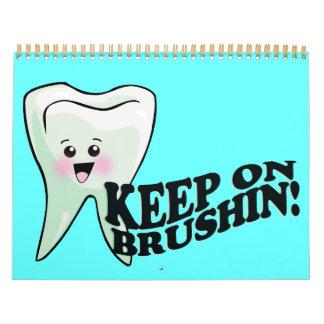 Higienista dental del dentista divertido calendarios
