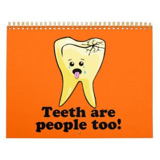 Higienista dental del dentista divertido calendario