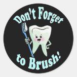 Higienista dental del dentista etiquetas