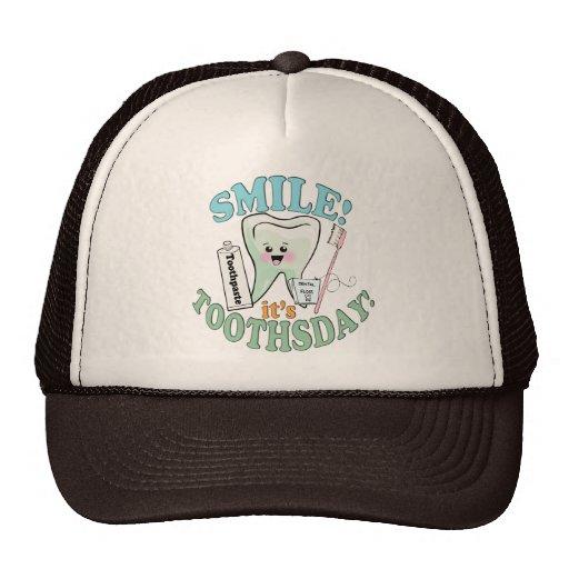 Higienista dental del dentista gorras