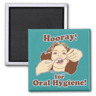 Higienista dental del dentista imán cuadrado