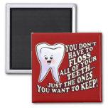 Higienista dental del dentista imanes