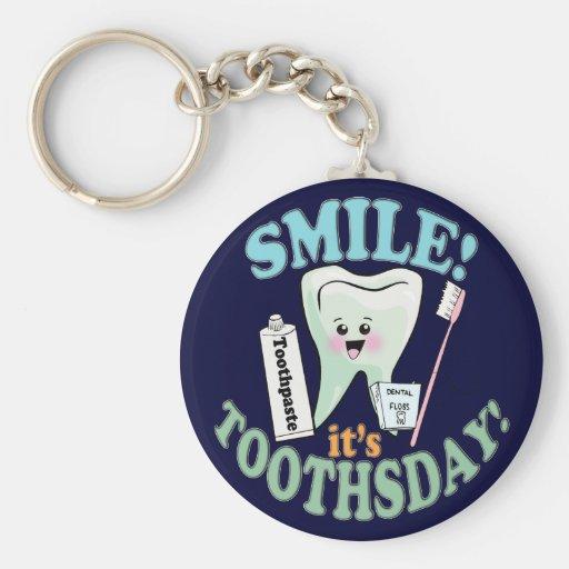 Higienista dental del dentista llaveros personalizados