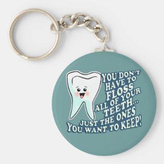 Higienista dental del dentista llavero redondo tipo pin