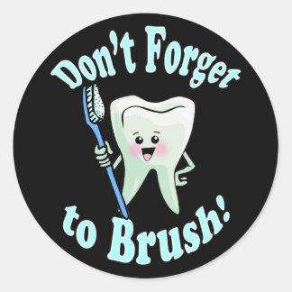 Higienista dental del dentista etiquetas redondas