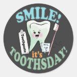 Higienista dental del dentista pegatina redonda