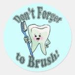 Higienista dental del dentista pegatinas redondas