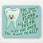 Higienista dental del dentista tapete de raton