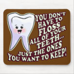 Higienista dental del dentista alfombrillas de raton
