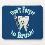 Higienista dental del dentista alfombrillas de ratones