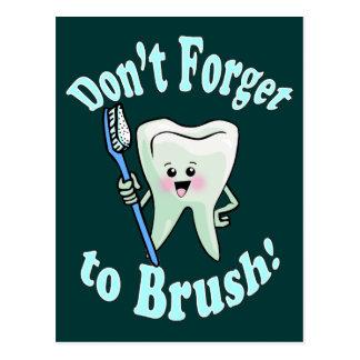Higienista dental del dentista postal