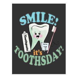 Higienista dental del dentista tarjetas postales