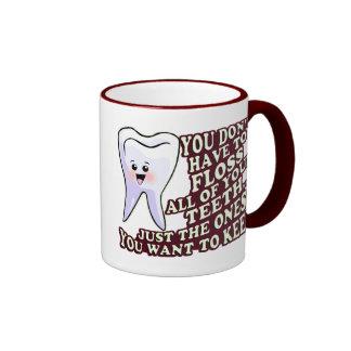 Higienista dental del dentista taza de café