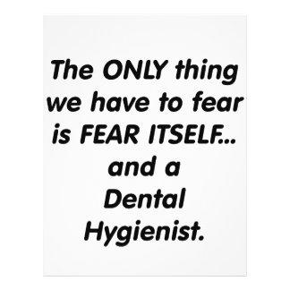 higienista dental del miedo tarjetas publicitarias