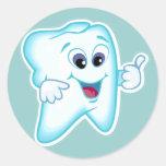 Higienista dental divertido etiquetas