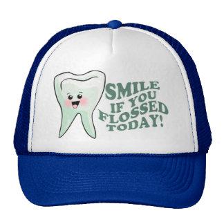 Higienista dental divertido gorros bordados