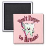 Higienista dental divertido imán de frigorífico