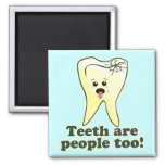 Higienista dental divertido imán de nevera