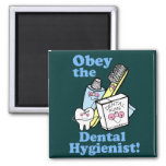 Higienista dental divertido imán para frigorifico