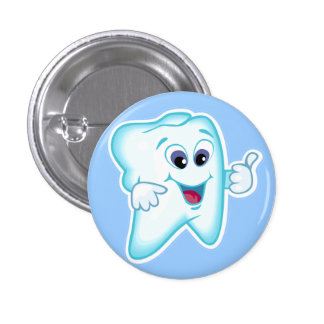 Higienista dental divertido pin redondo de 1 pulgada