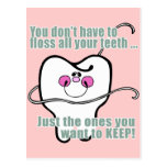 Higienista dental divertido postal