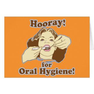 Higienista dental divertido felicitaciones