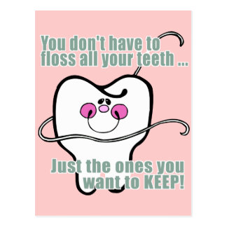 Higienista dental divertido tarjetas postales
