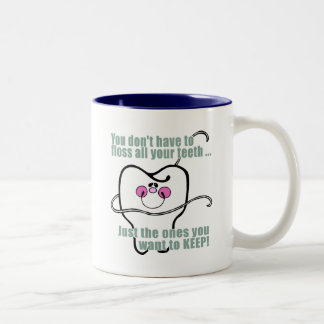 Higienista dental divertido taza