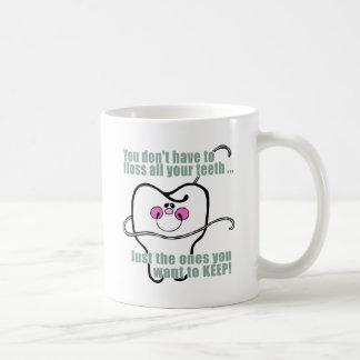 Higienista dental divertido tazas