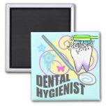Higienista dental imán cuadrado
