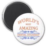 Higienista dental imán de frigorifico