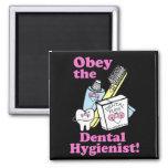 Higienista dental imán de frigorífico