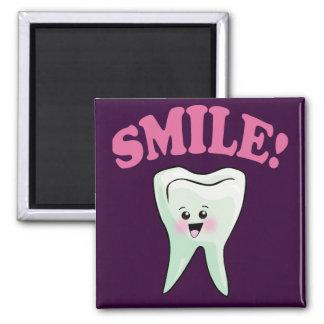 Higienista dental lindo imán cuadrado