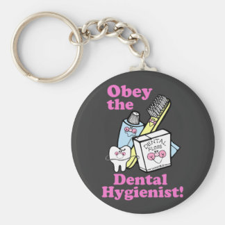 Higienista dental llavero redondo tipo pin